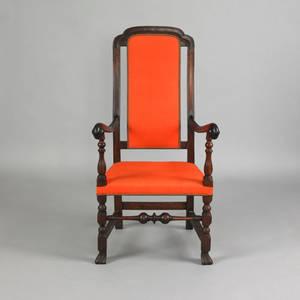Boston Massachusetts William  Mary crookback maple armchair ca 1730
