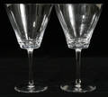 121157 LALIQUE CRYSTAL GOBLETS VOLNAY PATTERN TWO