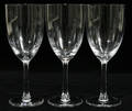 121154 LALIQUE CRYSTAL WINES FRANCE PATTERN THREE