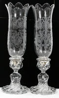 121134 BACCARAT CRYSTAL CANDLESTICKS W HURRICANES 2