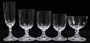 121149 LALIQUE CRYSTAL GLASSES VALENCAY PATTERN 5