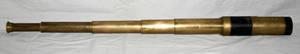 120106 HAND HELD BRASS TELESCOPE 19 TH C H 30