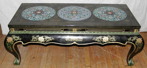 091077 CHINESE CLOISONN  LACQUER COFFEE TABLE