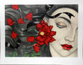 12125 MEL ODOM LITHOGRAPH 23x3025 RED ROSE