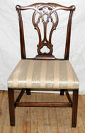 11125 CHIPPENDALE STYLE MAHOGANY SIDE CHAIRS