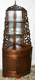 11117 VICTORIAN ROSEWOOD CORNER STYLE TAGRE