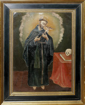 121202 OIL ON TIN FRANCIS OF ASSISI