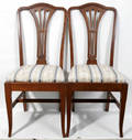 121171 GEORGIAN STYLE MAHOGANY DINING SIDE CHAIRS 6