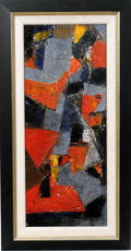 112095 SERGE POLIAKOFF OIL ON BOARD ABSTRACT
