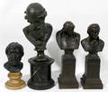 102220 BRONZE  SPELTER CLASSICAL BUSTS