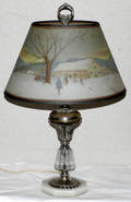 102184 A FREDERICK REVERSE PAINTED SHADE LAMP