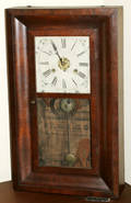 101164 NEW HAVEN CLOCK CO MAHOGANY OGEE SHELF CLOCK