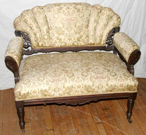 091094 EASTLAKE WALNUT SETTEE
