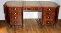 12169 GEORGIAN STYLE MAHOGANY PARTNERS DESK W 72