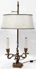 11157 FRENCH GILT METAL TABLE LAMP C 1920 H 25