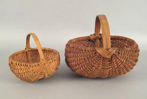 Two Pennsylvania split oak baskets late 19th c