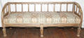 092141 ANTIQUE SWISS COUNTRY STYLE CARVED SOFA