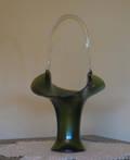 092101 FAVRILE HAND BLOWN GLASS BASKET
