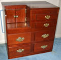 091160 MAHOGANY MODDED CHEST FROM CHRIS CRAFT CRUISER