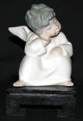 091147 LLADRO BISQUE FIGURE THINKING ANGEL