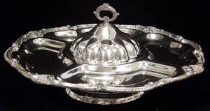 090142 AMERICAN SILVER PLATE LAZY SUSAN