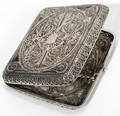 090139 SILVER WIRE FILIGREE CIGARETTE CASE