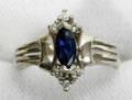 090132 SAPPHIRE DIAMOND  WHITE GOLD RING
