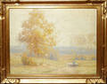 122243 GUSTAVE WIEGAND OIL ON CANVAS AUTUMN GOLD NH