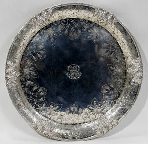 110220 SPALDING  CO STERLING SILVER ROUND TRAY
