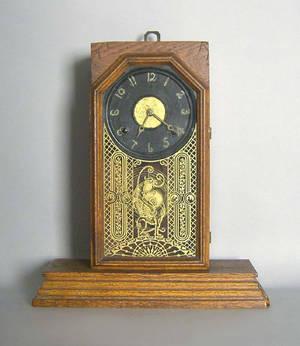 Empire mahogany mantle clock
