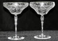 12244 LIBBEY CRYSTAL CHAMPAGNES 11 H 7 DIA 3