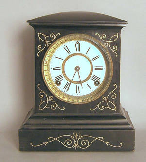 Ansonia slate mantle clock