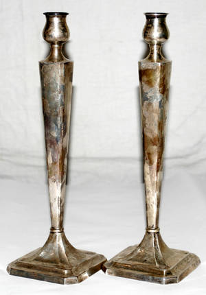 11257 AMERICAN STERLING SILVER CANDLESTICKS H 121