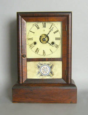 Seth Thomas rosewood veneer mantle clock
