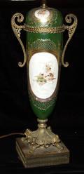 121323 SEVRES PORCELAIN LAMP C 1880 H 29