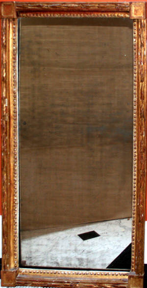 102326 REGENCY GILT WOOD  GESSO MIRROR