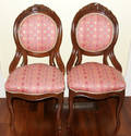 102304 VICTORIAN HANDCARVED MAHOGANY SIDE CHAIRS