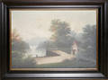 12278 AMERICAN SCHOOL OIL ON CANVAS LANDSCAPE