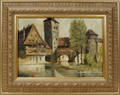 10261 NURMBERG OIL ON CANVAS SIGNED 11x16 CANAL