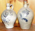 121365 AMERICAN POTTERY JUGS 19TH C TWO