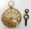 112267 MP  CE ANTIQUE GOLD POCKET WATCH
