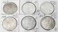 110295 US MORGANPEACE SILVER DOLLARS 19011926 SIX