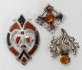102367 SCOTTISH STERLING BROOCHES