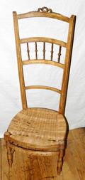 101389 LOUIS XVI STYLE WALNUT RUSH SEAT CHAIR