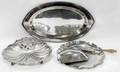 100241 ENGLISH SILVER PLATE TRAYS  CRUMBER