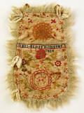 Silkwork pocket dated 1824 wrought by James Meniem