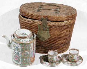 10326 CHINESE ROSE MEDALLION PORCELAIN TEA SET