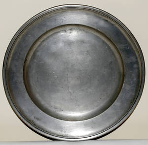 101424 ENGLISH PEWTER CHARGER