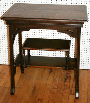 101396 LATE VICTORIAN OAK WORK TABLE