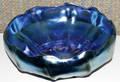 092292 TIFFANY L C T FAVRILE LOBED BLUE BOWL